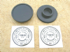 Fork Top Nut Plastic Cap & Decals, Pair,Triumph 1979-83, 97-7034, 97-4259